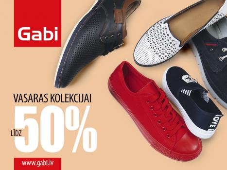 Vasaras apaviem atlaides līdz 50%