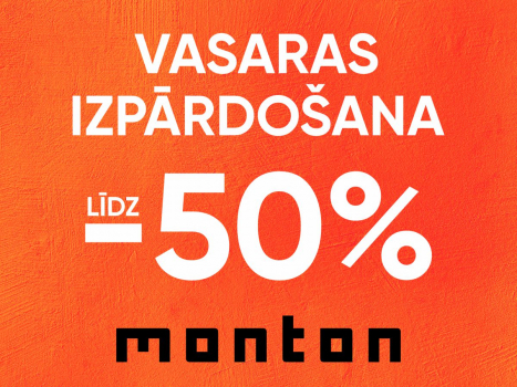 VASARAS IZPĀRDOŠANA, atlaides līdz -50%