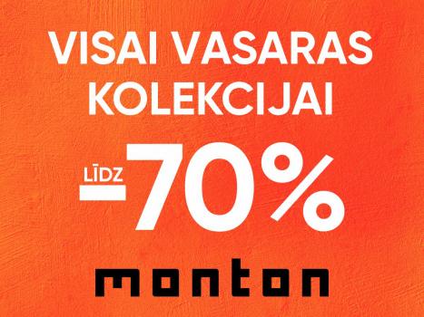 Visai vasaras kolekcijai līdz -70%