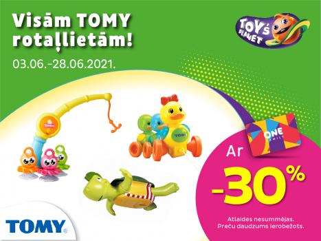 Visām Tomy rotaļlietām -30%!