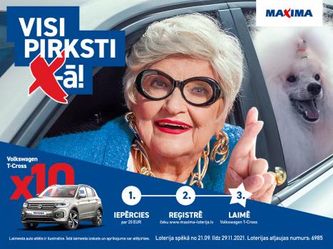 Visi pirksti X-ā!  Maxima veikalos lielā jubilejas loterija.