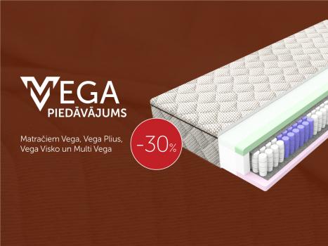 Visiem Vega matračiem 30% atlaide