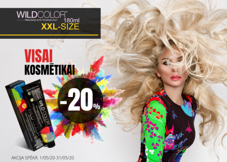 Wildcolor - visai WILD COLOR XXL size matu kosmē tikai -20% atlaide