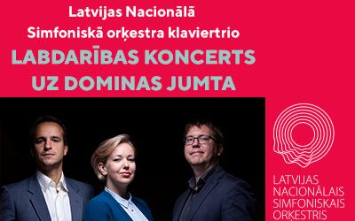 Latvijas Nacionālā Simfoniskā orķestra klaviertrio Labdarības AUTO KONCERTS uz Dominas jumta