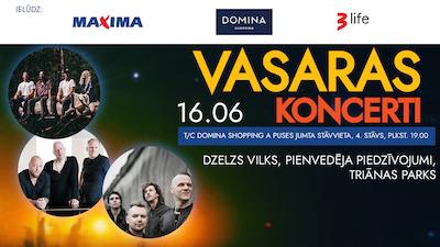DZELZS VILKS, PIENVEDĒJA PIEDZĪVOJUMI, TRIĀNAS PARKS / Vasaras koncerts uz Dominas jumta