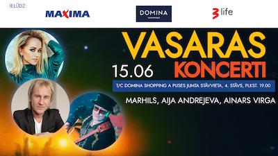 MARHILS, AIJA ANDREJEVA, AINARS VIRGA / Vasaras koncerts uz Dominas jumta