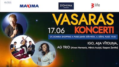 IGO, AIJA VĪTOLIŅA, AG TRIO (A. Hermanis, M. Auziņš,K. Zemītis) / Vasaras koncerts uz Dominas jumta