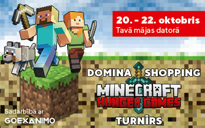 Domina Shopping Minecraft Hunger Games turnīrs!