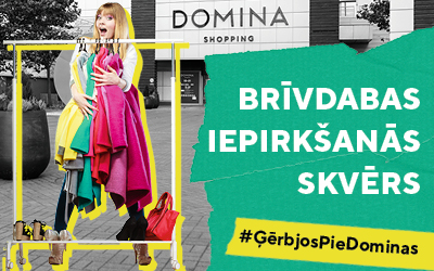 """Pie tirdzniecības centra """"Domina Shopping"""" sāksies ielu tirdzniecība"""