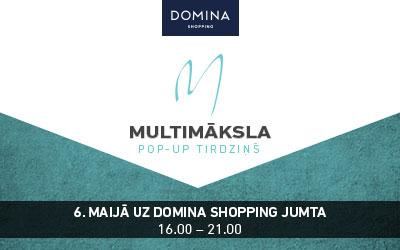 На крыше «Domina Shopping» пройдет первая «pop-up» ярмарка латвийских артистов «Multimāksla»